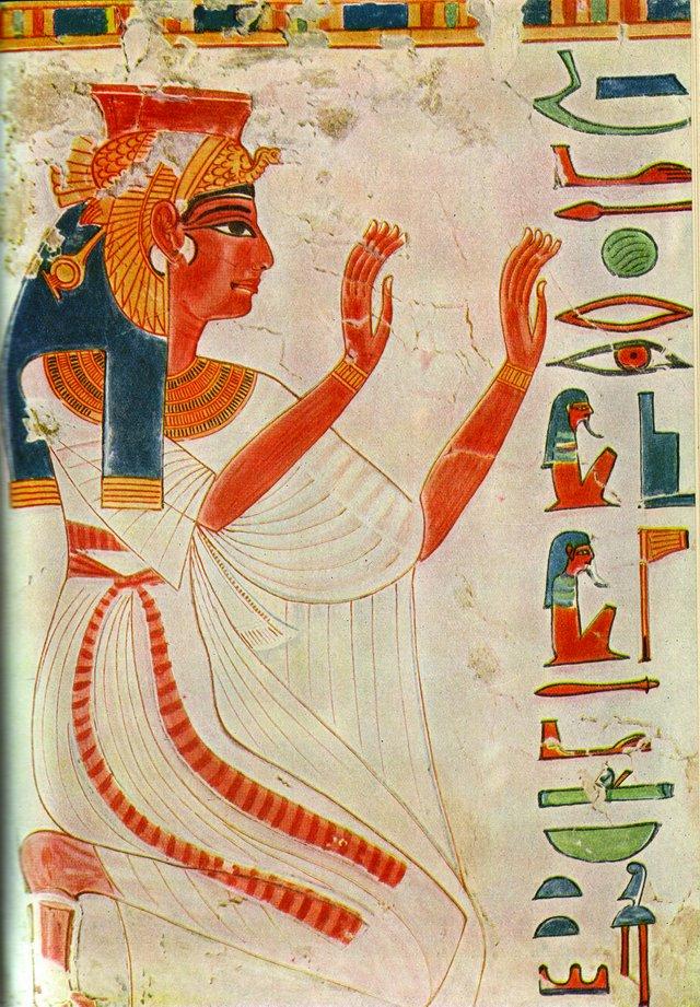 Egyptisk skiltemalerarbejde